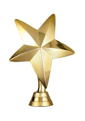 Soška zlatá hvězda - 13cm